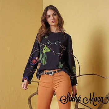 BLUSA MANGA LONGA ESTAMPA ARIZONA